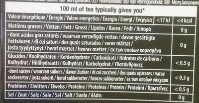 Rich earl grey - Informations nutritionnelles