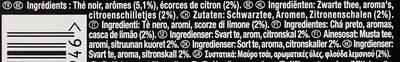 Lipton Thé Rich Earl Grey Citron 25 Sachets - Ingredienti - fr