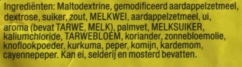 Kerrie saus - Ingrediënten - nl