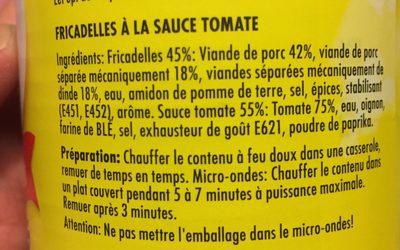 Fricadelles - Ingredients