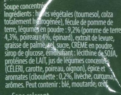 Soupissime Instant Poireaux pommes de terre - Ingrédients - fr