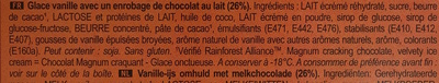 Magnum Chocolat au Lait - Ingrédients