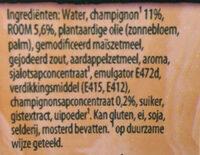 Knorr Champignonroomsaus - Ingredients - nl