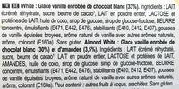 Magnum Mini Batonnet Glace Chocolat Blanc Amande x6 360ml - Ingrédients - fr