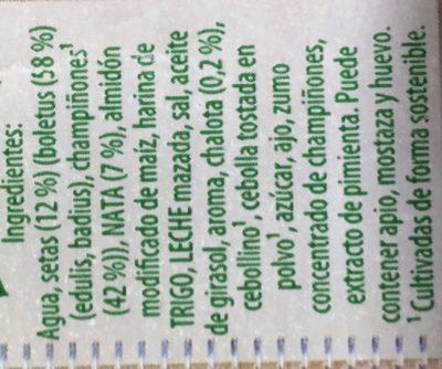 Knorr Crema De Bolets Del Bosc Amb Xampinyons 500ML - Ingredients