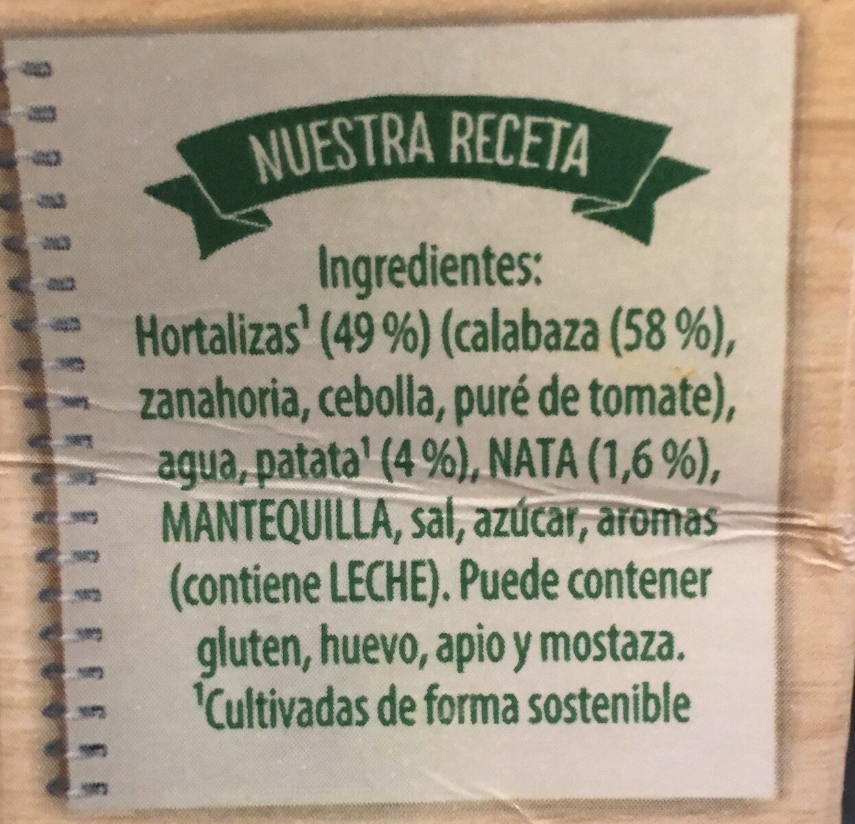 Crema De Calabaza Con Un Suave Toque De Nata 1L - Produit - fr