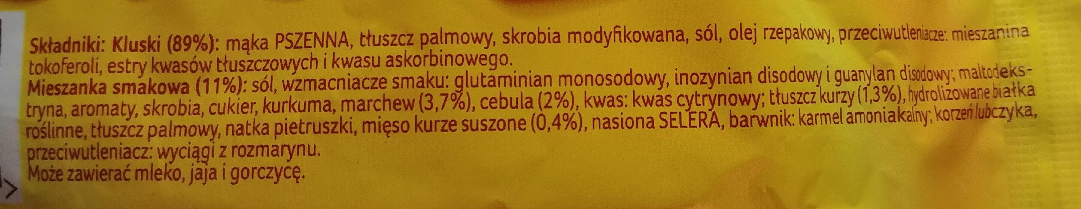 Rosół - zupa błyskawiczna - Składniki - pl