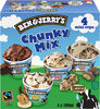 Ben & Jerry's Glace Mini Pots Chunky Mix x4 - Product