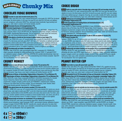 Ben & Jerry's Glace Mini Pots Chunky Mix x4 - Ingredienti - fr