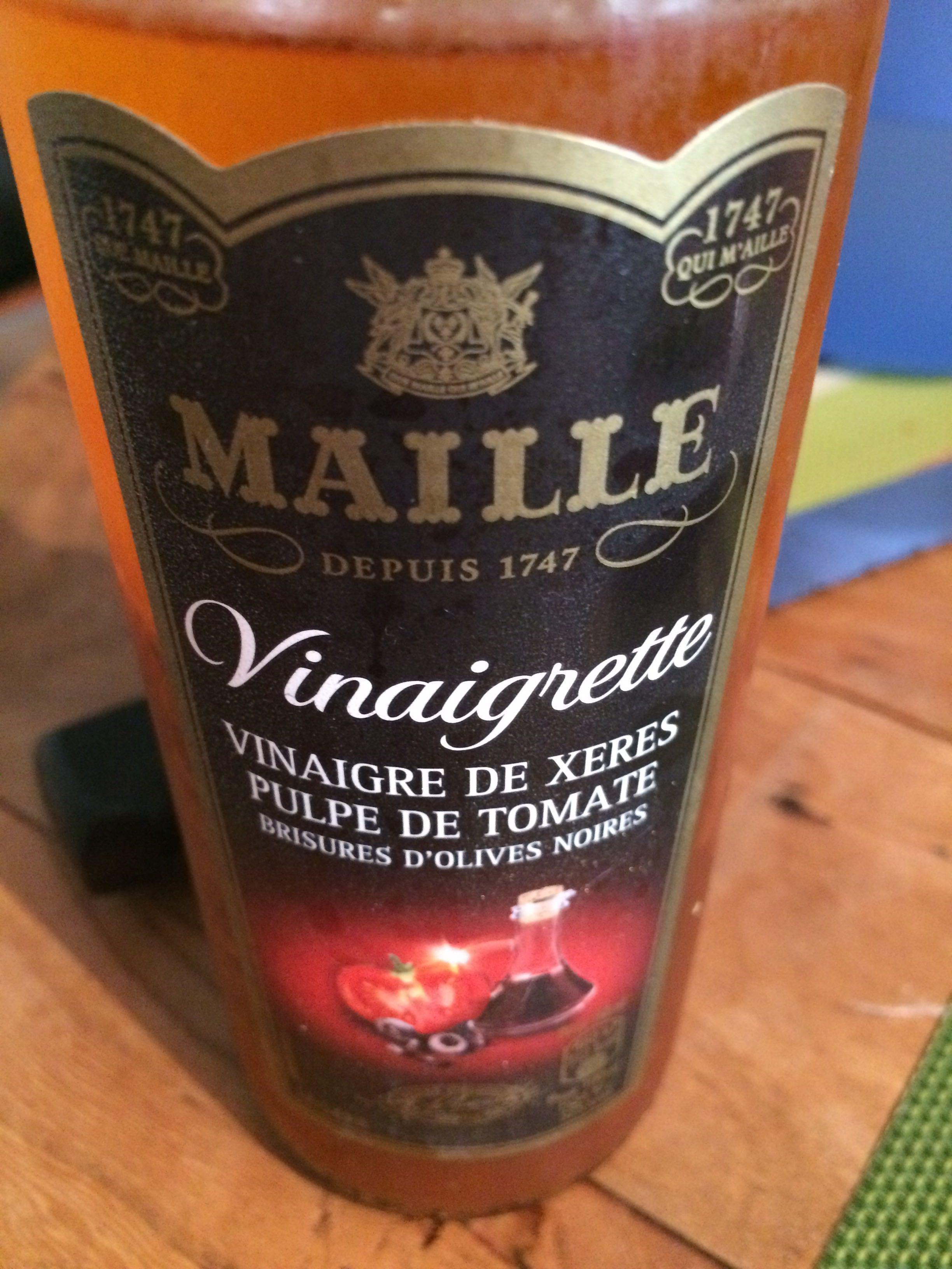 Vinaigrette (vinaigre de xérès pulpe de tomate) - Produit