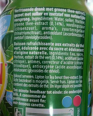 Green ice tea - Ingrediënten