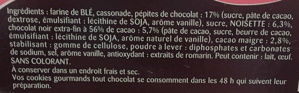 Cookies gourmands - Ingrediënten