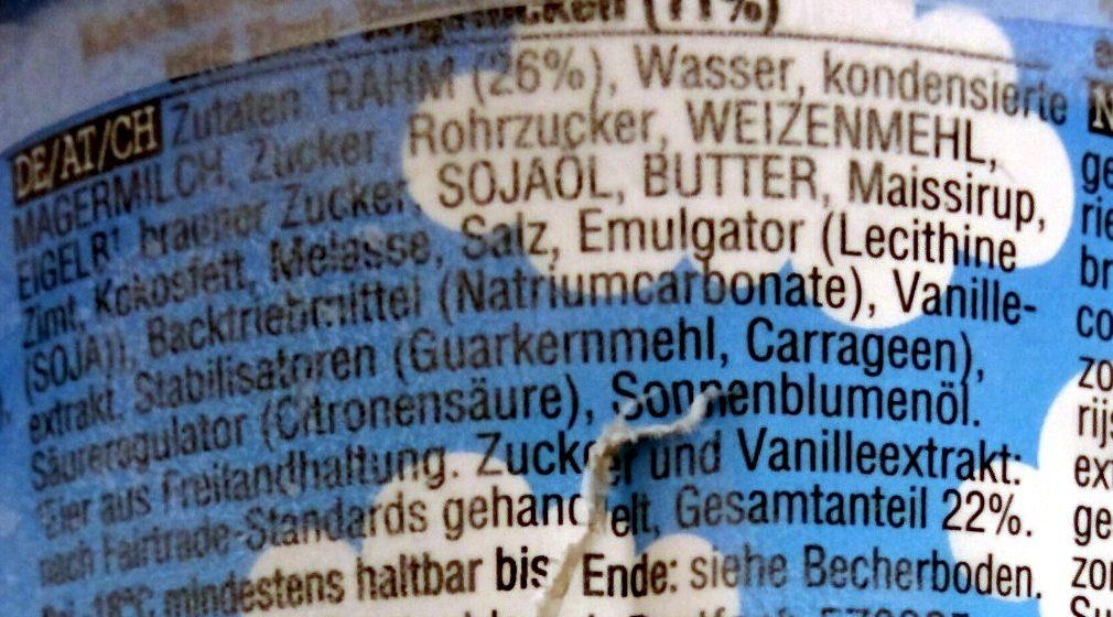 Ben & Jerry's Glace Pot Cinnamon Buns Caramel - Inhaltsstoffe - de