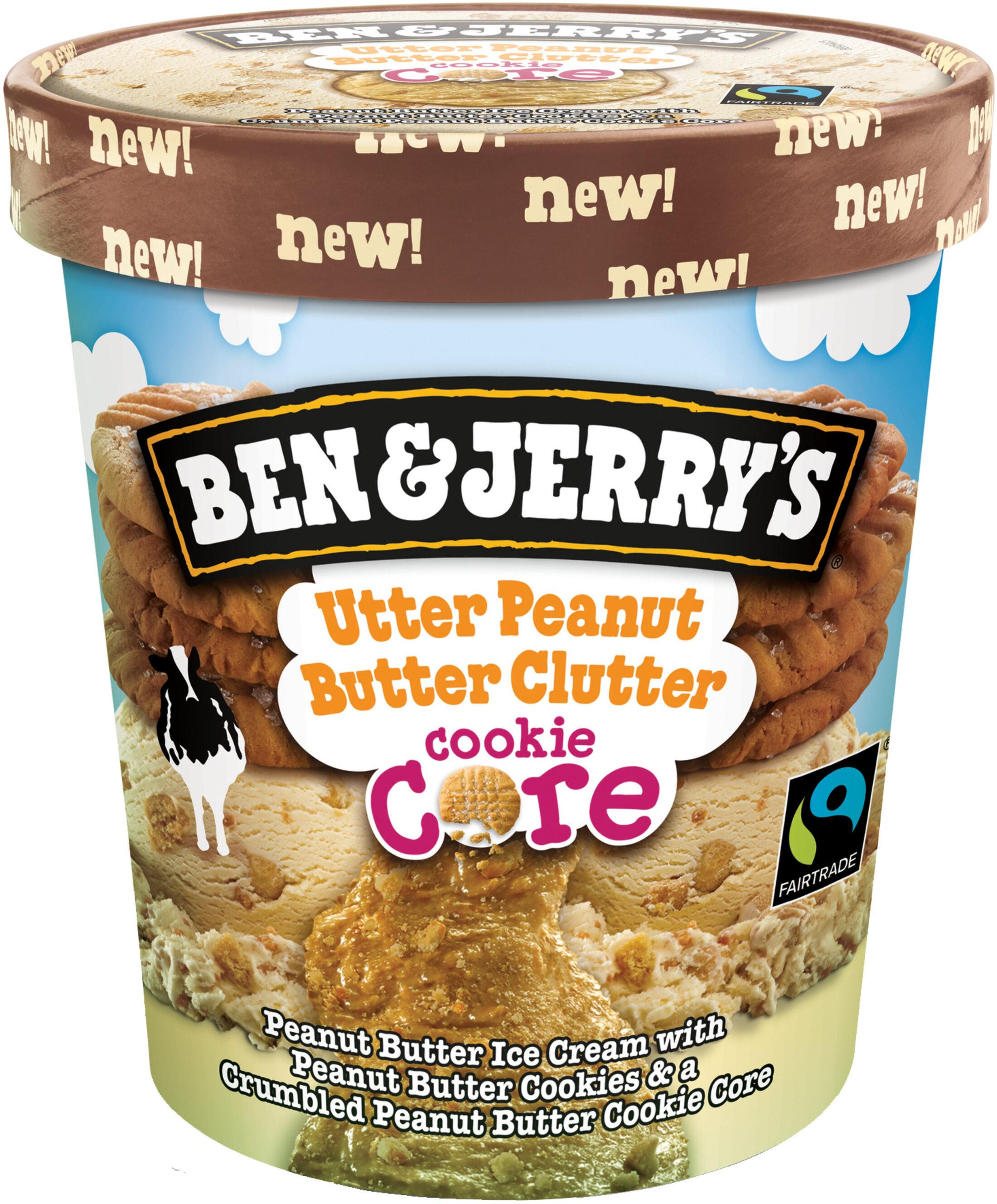 Ben & Jerry's Glace Pot Core Utter Peanut Butter clutter Cacahuète 500ml - Produit