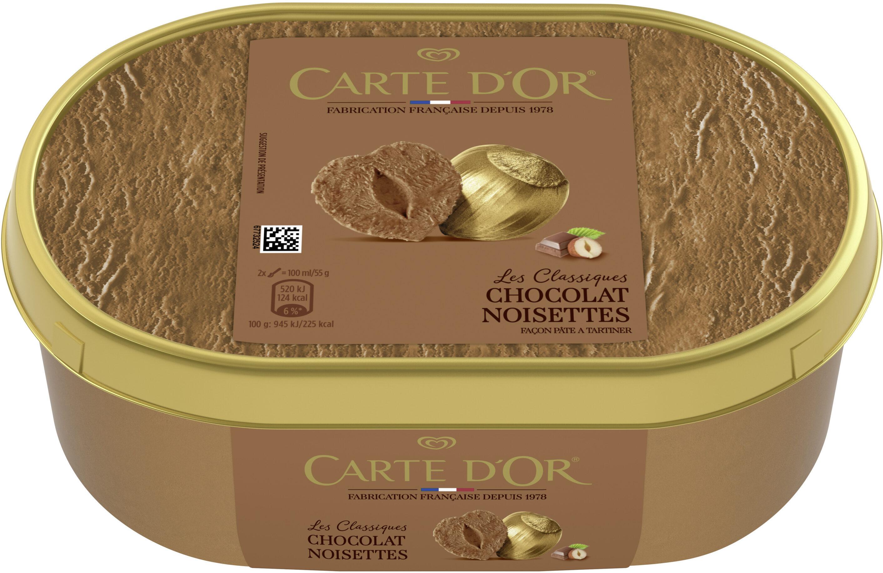 Carte D'or Les Authentiques Glace Chocolat Noisette - Prodotto - fr