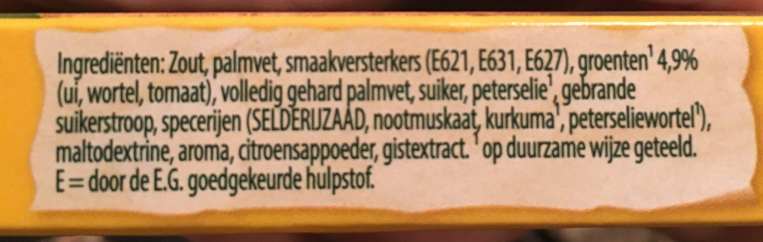Groente bouillon - Ingrediënten - nl