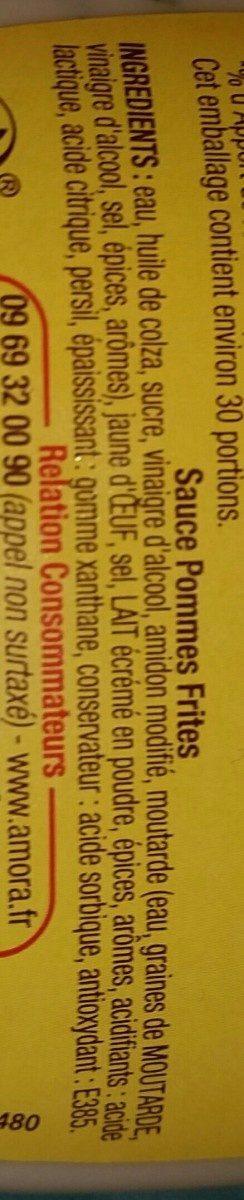 Sauce pommes frites - Ingrediënten