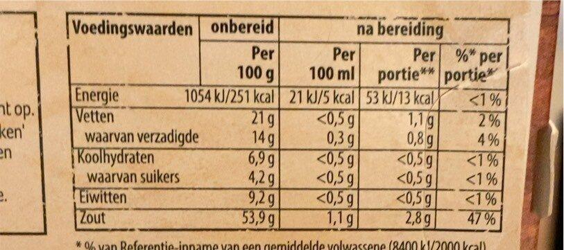 Groentebouillon - Voedingswaarden - nl