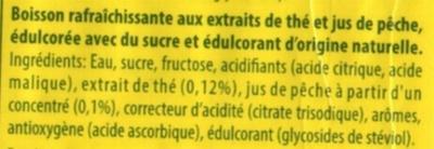 Ice tea pêche - Ingredienti - fr
