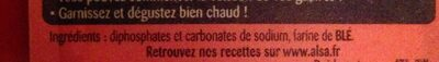 Levure chimique alsacienne - Ingredients - fr