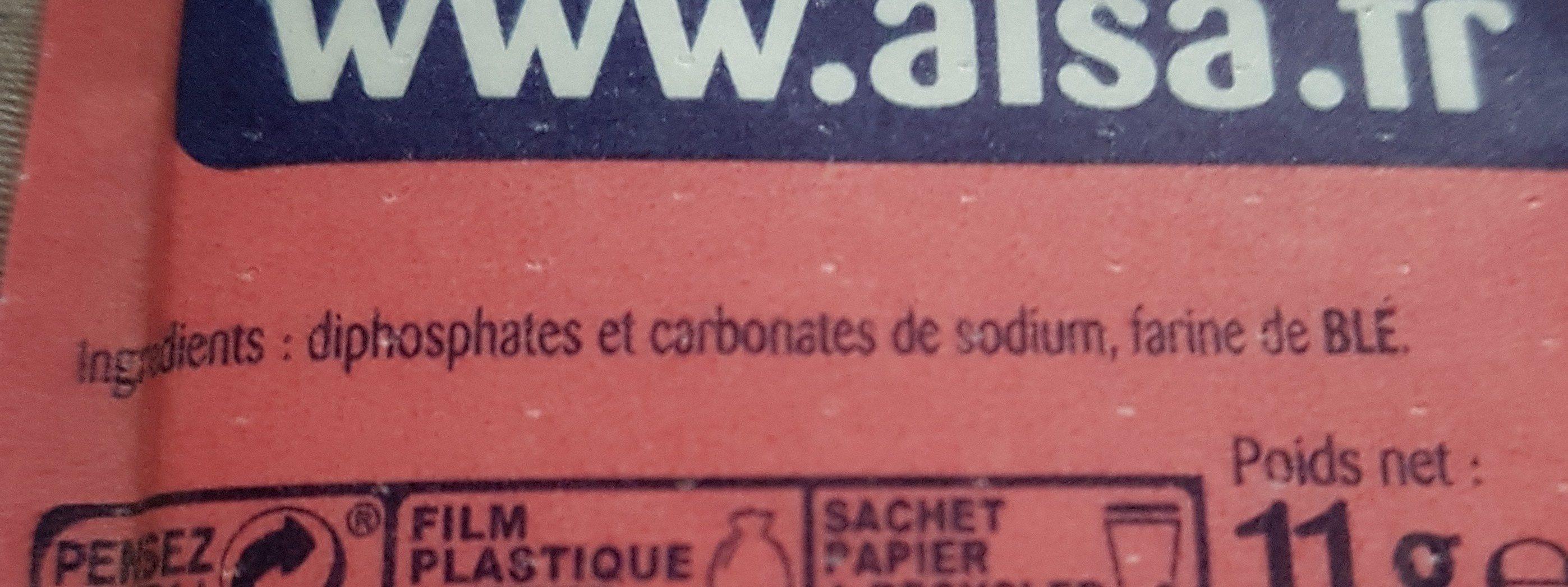 """Levure chimique """"Alsacienne"""" - Ingrediënten"""