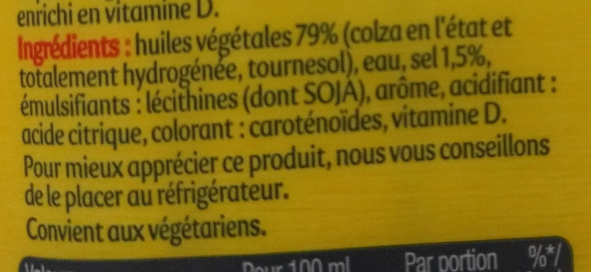 Planta fin - Ingredients