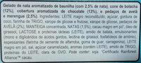 Cornetto Clássico x6 - Ingrédients - fr