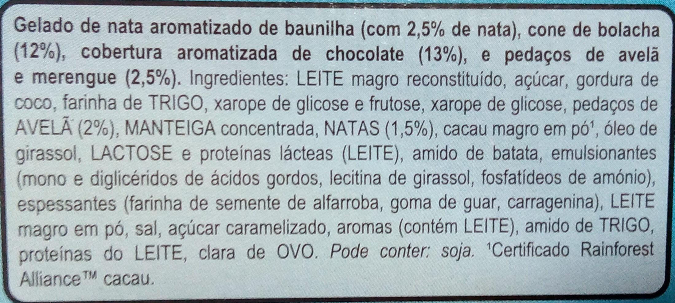Cornetto Clássico x6 - Ingredientes - pt