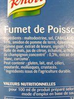 Fumet De Poisson - Ingrédients