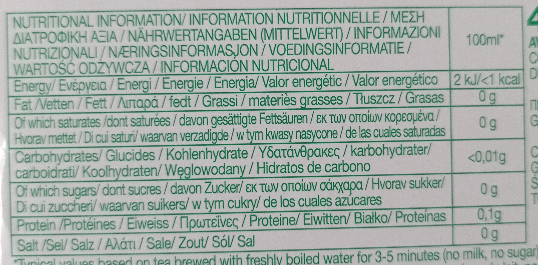 PG tips - Nutrition facts - en
