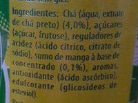 Lipton-ice Tea -mango-250ml-portugal - Ingredients - fr
