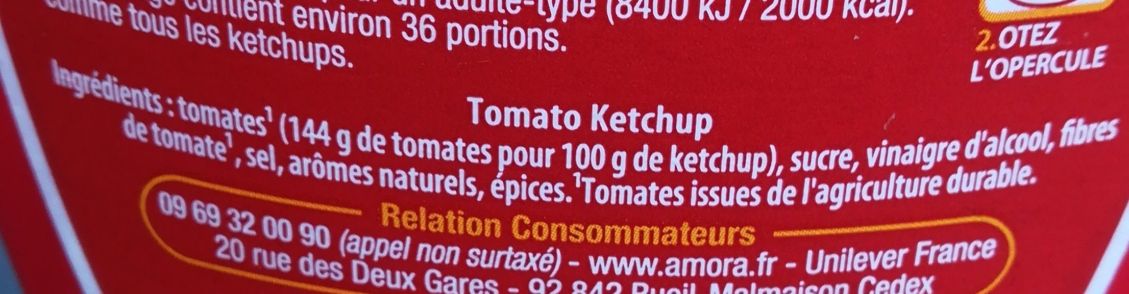 Tomato ketchup - Ingredients