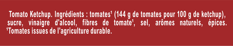 AMORA Ketchup Flacon Souple tête en bas - Ingredients - fr