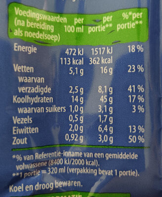 Good Noodles Groente - Nutrition facts - nl