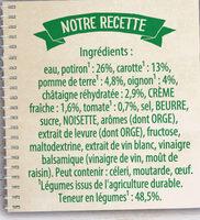 Knorr Soupe Liquide Douceur de Potiron Chataigne - Ingrédients - fr