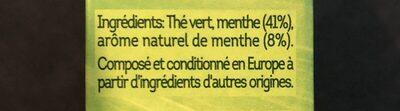 Thé Vert Marrakech Mint' - Ingrédients