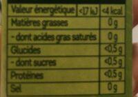 Lipton Thé Vert Marrakech Mint 10 Capsules - Informations nutritionnelles - fr