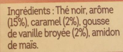 Lipton Thé Noir Caramel Vanille 10 Capsules - Ingrediënten - fr