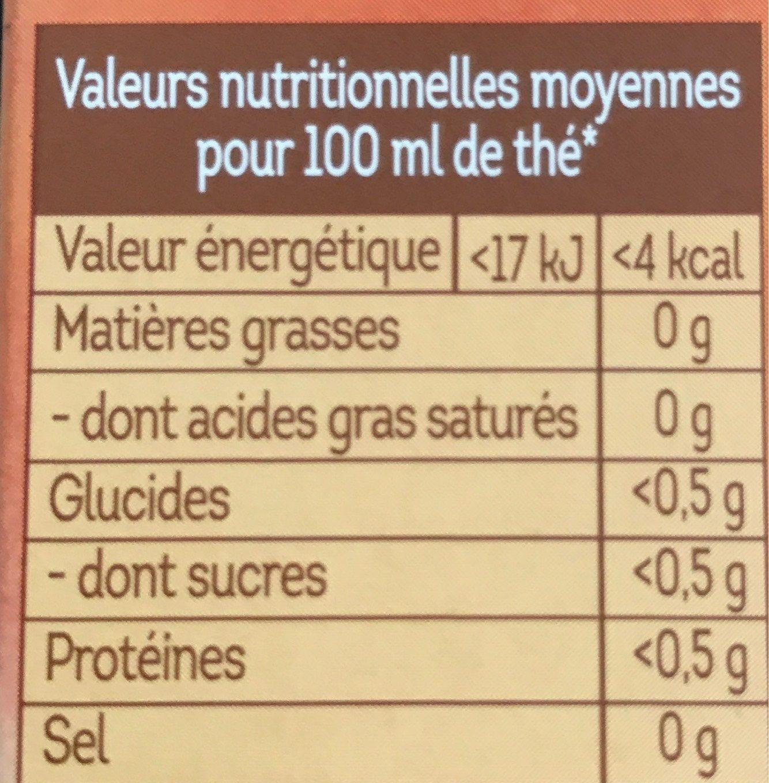 Lipton Thé Noir Caramel Vanille 10 Capsules - Voedingswaarden - fr
