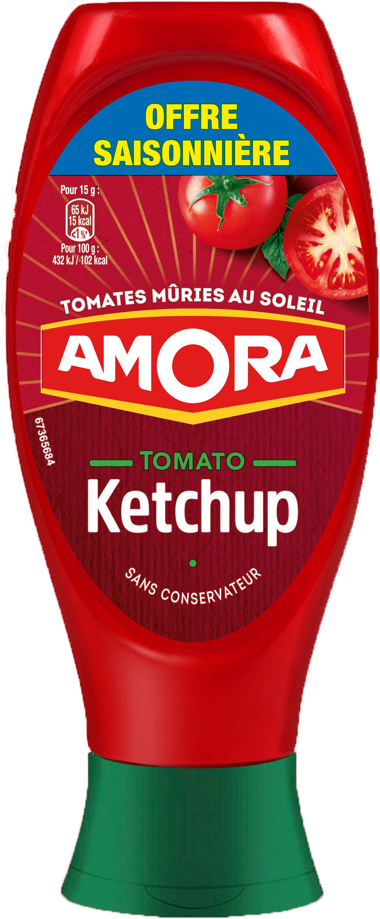 Amora Ketchup Nature Flacon Souple 550g Offre Saisonnière - Product - fr