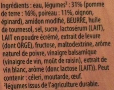 Velouté de poireaux pommes de terre - Ingrediënten