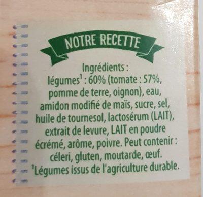 Knorr Soupe Velouté de Tomates 1l - Ingredients