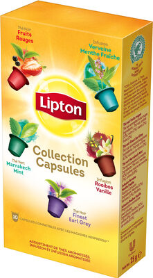 Lipton La Collection Thés & Infusions Coffret 10 Capsules - Produit - fr