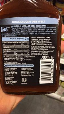 American Smokey BBQ Sauce - Ingrediënten - fr