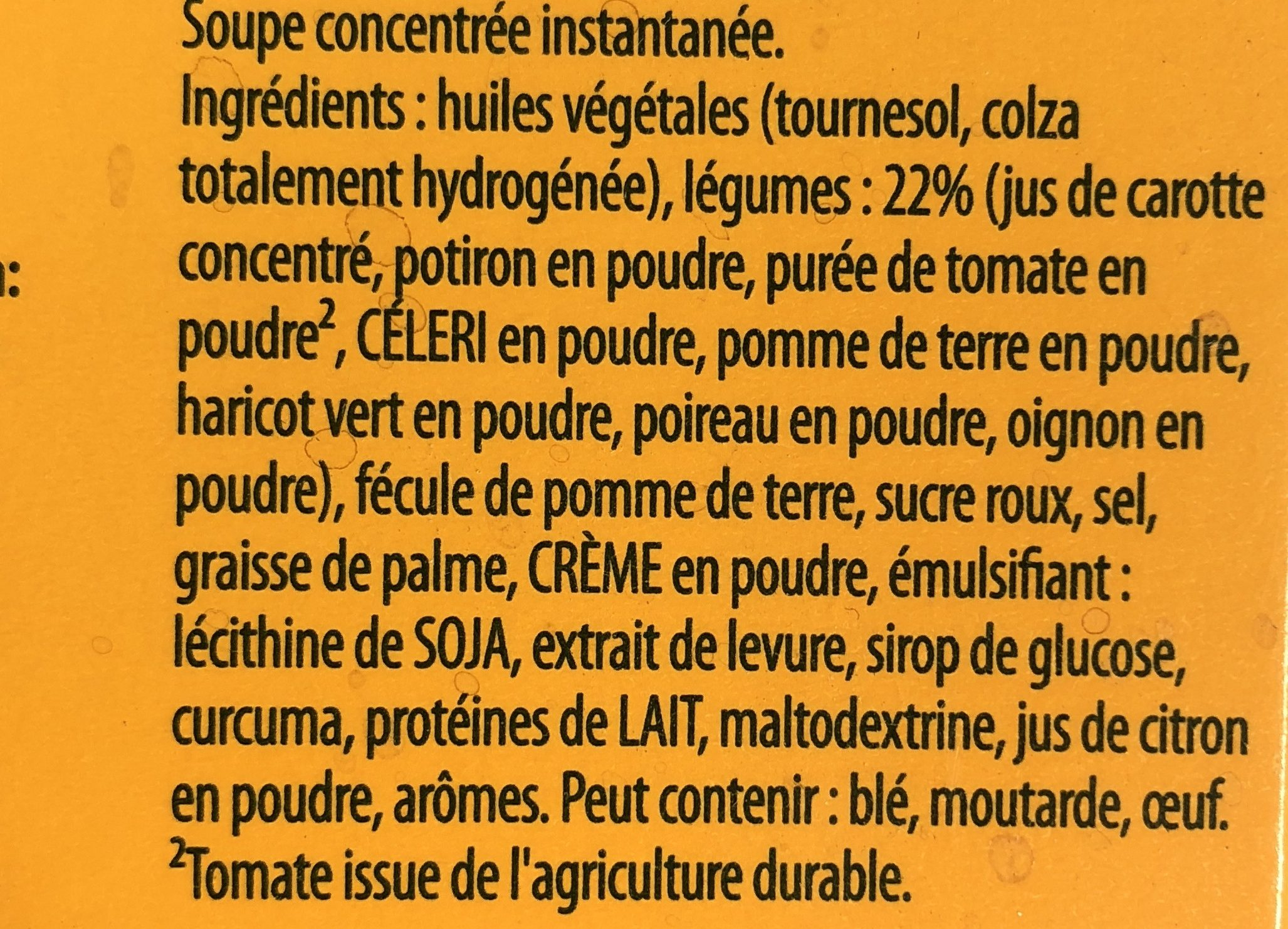 Soupe 8 legumes - Ingrediënten - fr