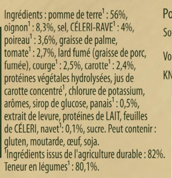 Knorr Mouliné de Légumes d'Hiver 95g 4 Portions - Ingrédients - fr