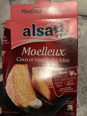 Alsa moelleux coco et vanille des Isles - Product - fr