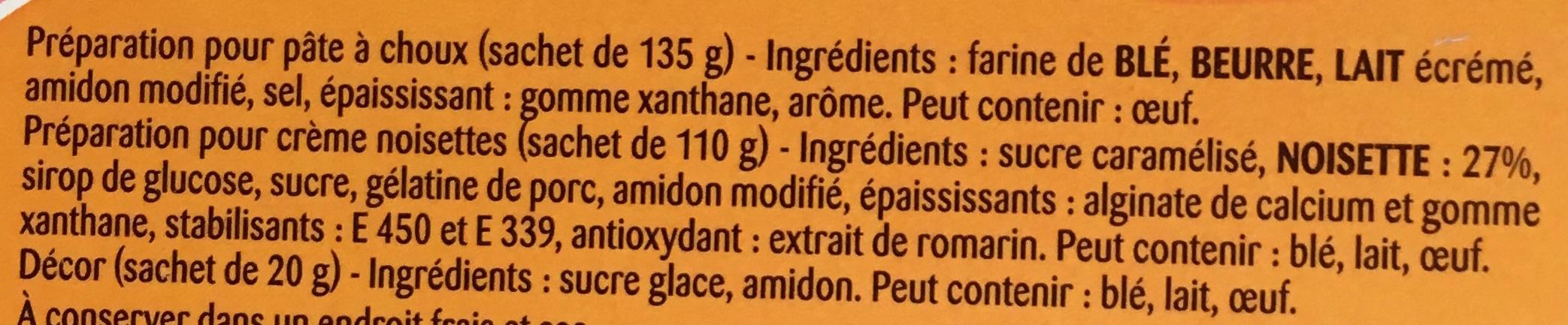 """Préparation façon Paris-Brest """"Saveur d'Antan"""" Crème Nosiettes - Ingredients"""