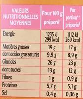 """Préparation façon Paris-Brest """"Saveur d'Antan"""" Crème Nosiettes - Nutrition facts"""