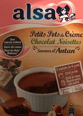 Petits pots de crème chocolat noisettes - Produit